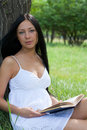Free Girl Reading Book In The Park Royalty Free Stock Images - 20656629