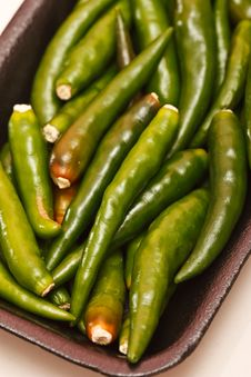 Green Hot Chilli Royalty Free Stock Images