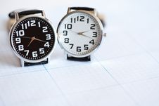 Free Pair Of Wristwatches Royalty Free Stock Photo - 20650175