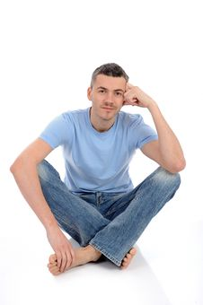 Free Young Handsome Possitive Man In Casual Clothes Royalty Free Stock Image - 20650386