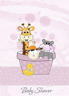 Animal Baby Shower Royalty Free Stock Images
