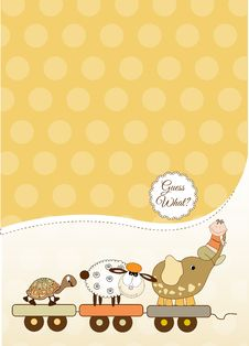 Free Customizable Baby Card Royalty Free Stock Photo - 20650675