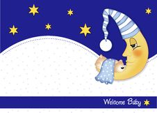 Free Welcome Baby Card Stock Photo - 20650780