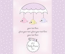 Free Delicate Baby Shower Card Stock Photography - 20650952