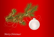 Free Fir Branch And Christmas Ball Stock Image - 20651011