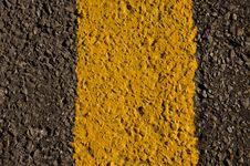 Gray, Black And Yellow Asphalt Background Stock Photo