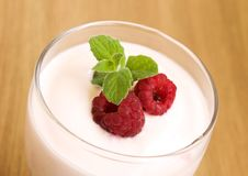 Raspberry Yogurt Royalty Free Stock Images