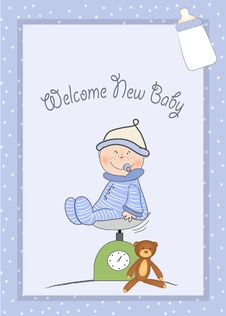 Free Welcome New Baby Boy Royalty Free Stock Photo - 20653585
