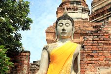 Free Buddha Image In Temple In Ayuthaya, Thailand Royalty Free Stock Image - 20654546