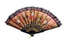 Free A Folding Fan Patterned Flowers Cloth Stock Image - 20654621