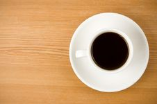 Free Cup Off Coffee On Wood Stock Photos - 20654803