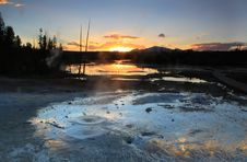 Free Norris Geyser Basin Royalty Free Stock Photos - 20654928