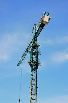 The Green High Crane Stock Image