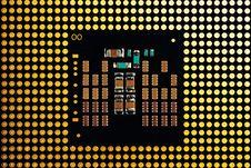 Central Processor Close Up Stock Photos