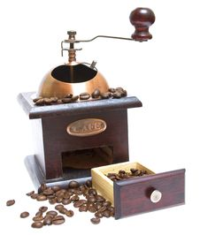 Free Coffee Grinder With Coffee Beans Stock Images - 20656014