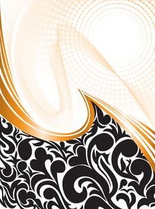 Free Black Pattern With Waves Stock Photo - 20656060