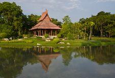 Free Thai Style Pavillion In Garden Royalty Free Stock Photo - 20656175