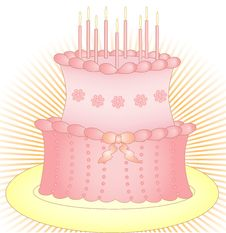 Free Cake With Candles Stock Photo - 20656190