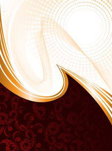 Free Dark Red Background With Waves Stock Photography - 20656332