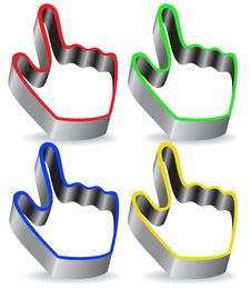 Pointer Hand Stock Image