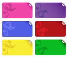 Set Of Colored Stickers 2 Royalty Free Stock Photos