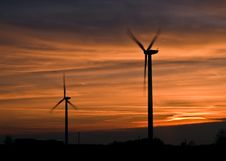 Wind Power Station Stock Image