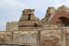 Fortifications At The Entrance Of Nessebar Royalty Free Stock Images