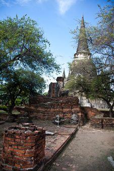 Free Wat Phra Sri Sanphet Of  Ayutthaya3 Royalty Free Stock Photo - 20658315