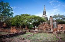 Free Wat Phra Sri Sanphet Of  Ayutthaya4 Royalty Free Stock Images - 20658399