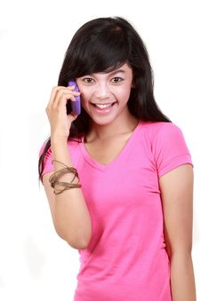 Free Attractive Woman On The Phone Royalty Free Stock Photos - 20659388