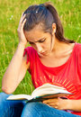 Free Young Woman Reading Book Royalty Free Stock Images - 20661269
