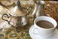 Free Coffee With Milk And Sugar Bowl. Stock Photos - 20662403