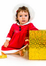 Free Little Girl In Santa Hat With Presents Royalty Free Stock Image - 20662866