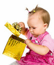Free Cute Girl With A Xmas Gift Stock Photos - 20662903