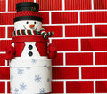 Free Snowman Made Of Gift Boxes Royalty Free Stock Photography - 20663297