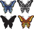 Free Set Of Decorative Butterflies Royalty Free Stock Photos - 20664858
