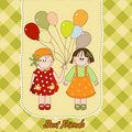 Free Best Friends Greeting Card Stock Photo - 20665130