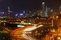 Free Traffic In Hong Kong At Night Royalty Free Stock Photo - 20665135