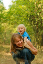 Free Mother And Baby Fun In Nature Royalty Free Stock Photography - 20667167