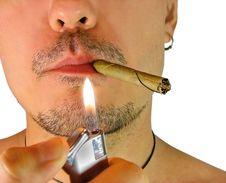 Free Closeup Of Man With Cigar Stock Image - 20660121
