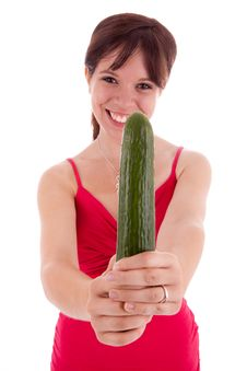 Free Young Woman With Vegetables Royalty Free Stock Photography - 20660327