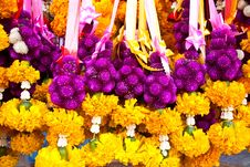 Colorful Flower Garland Royalty Free Stock Photography