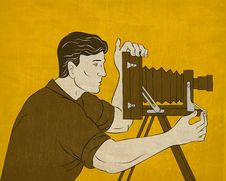 Free Cameraman Vintage Movie Film Camera Shooting Stock Photography - 20661352