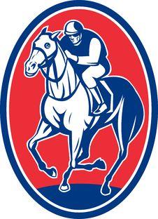 Jockey Riding Horse Racing Stock Images