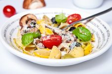 Free Pasta With Mushrooms Royalty Free Stock Photography - 20661577