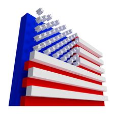 Free USA Flag. Include Clipping Path. Royalty Free Stock Photos - 20661978