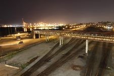 Free Lonely Train Yard By The Busy Docks Stock Image - 20662001