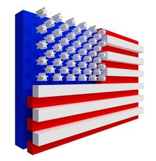 Free USA Flag. Include Clipping Path. Stock Photography - 20662002
