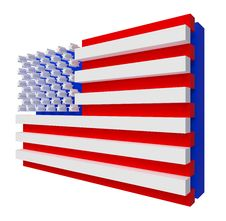Free USA Flag. Include Clipping Path. Stock Image - 20662051