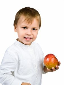 Free Little Boy With Apple Royalty Free Stock Images - 20662829